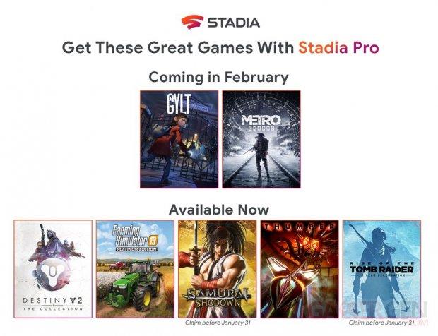 Stadia Pro février 2020