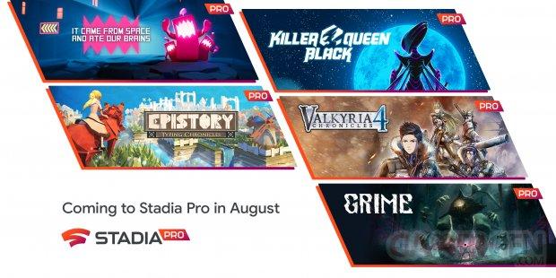 Stadia Pro nouveautés août 2021