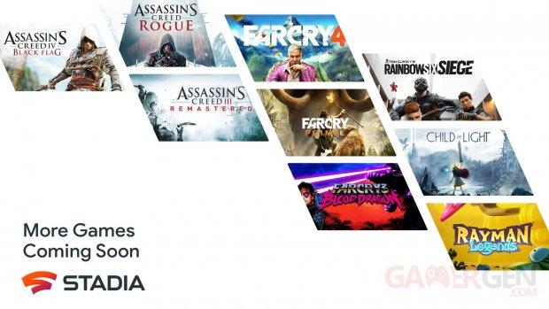 Stadia Ubisoft jeux 04 06 2021