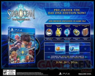 Star Ocean Integrity and Faithlessness  day one edition