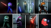 Star Wars Battlefront 2 Fall Guys Ultimate Knockout contre Among Us Mod (8).