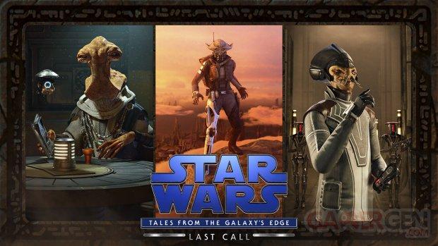 star wars tales from the galaxys edge last call key art