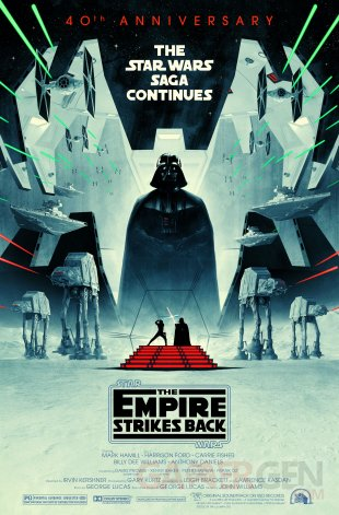Star Wars The Empire Strikes Back 40th Anniversary Poster affiche