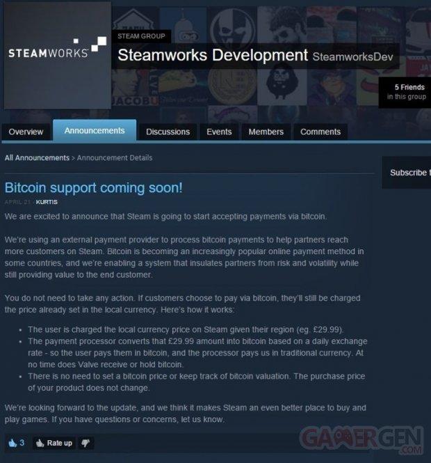 Steam Bitcoin Reddit valve