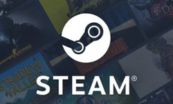 Steam logo head banner