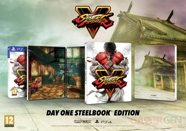 Street Fighter V 23 11 2015 Day One Steelbook Edition