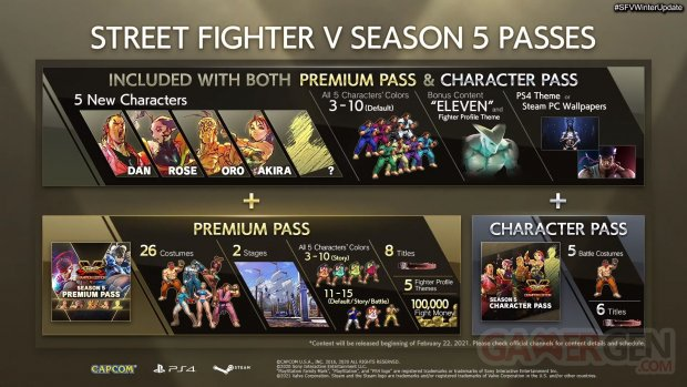 Street Fighter V Champion Edition Character Premium Pass 11 02 2021