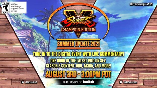 Street Fighter V Champion Edition Summer Update 2021