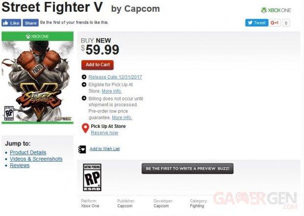 Street Fighter V Xbox One GameStop