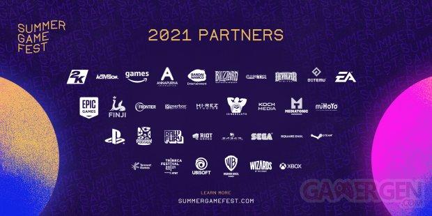 Summer Game Fest 2021 partenaires studios développeurs éditeurs