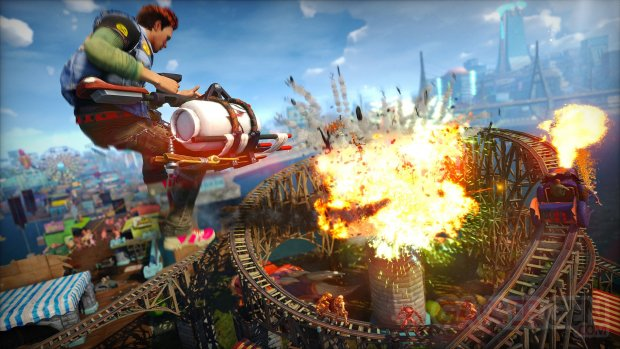 Sunset Overdrive E3 2014 captures montagnes russes 8