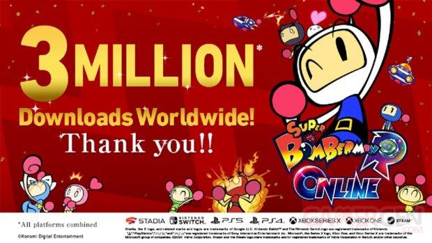 Super Bomberman R Online 3 millions chiffres joueurs
