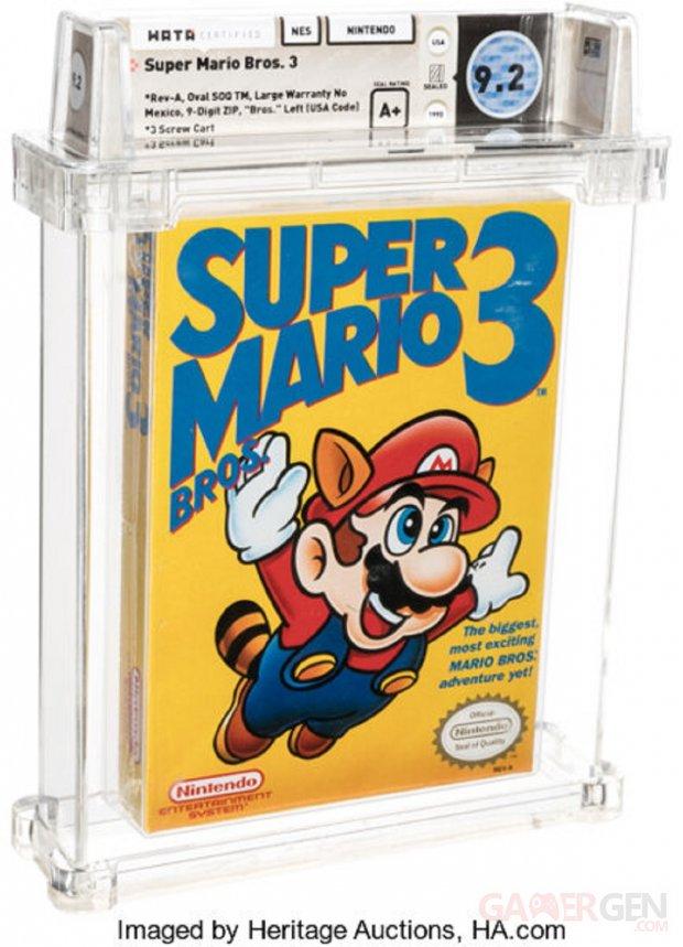 Super Mario Bros 3 Enchères 156000 dollars HA