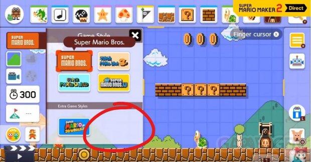 Super Mario Maker 2 Niveau jeux titres monde style graphique image