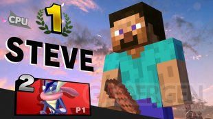 Super Smash Bros Ultimate Steve pose victoire 01 22 10 2020