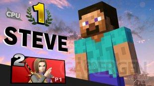 Super Smash Bros Ultimate Steve pose victoire 02 22 10 2020
