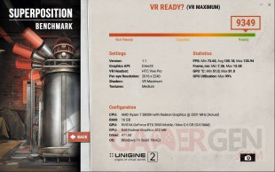 Superposition benchmark VR maximum HTC Vive