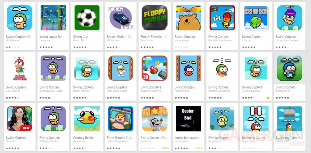 swing copters fake google play store