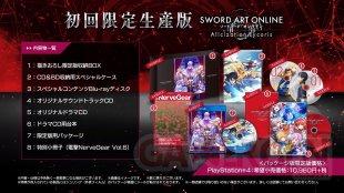 Sword Art Online Alicization Lycoris édition limitée first print Japon 09 12 2019