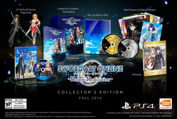 Sword Art Online Hollow Realization PS4 Collector Edition