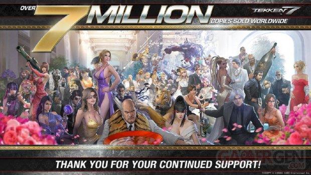 Tekken 7 artwork 7 sept millions chiffres ventes
