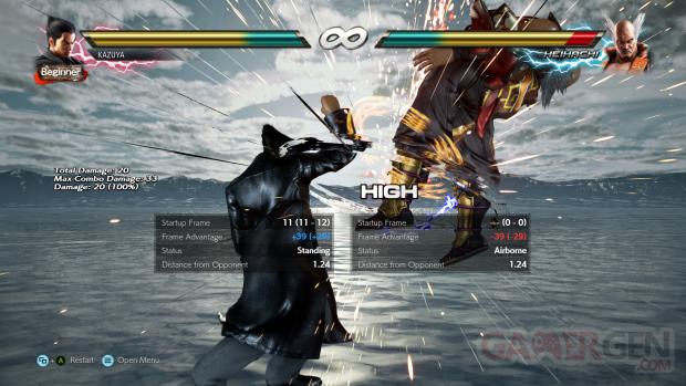Tekken 7 Frame Data Display