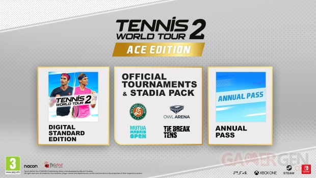Tennis World Tour 2 Ace Edition Annual Pass Roland Garros