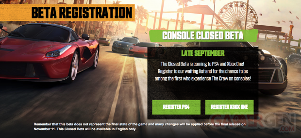 The Crew be?ta Xbox One et PS4