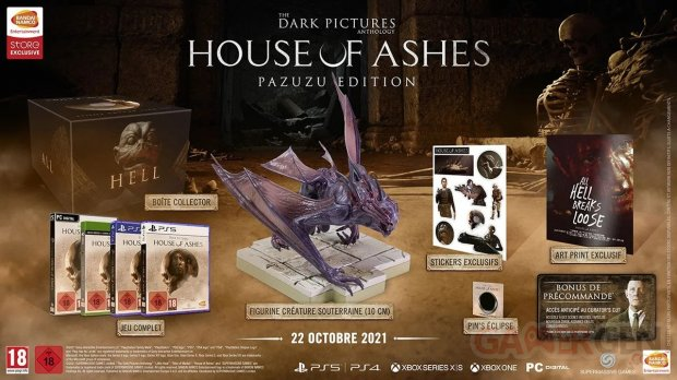 The Dark Pictures House of Ashes Pazuzu Edition collector