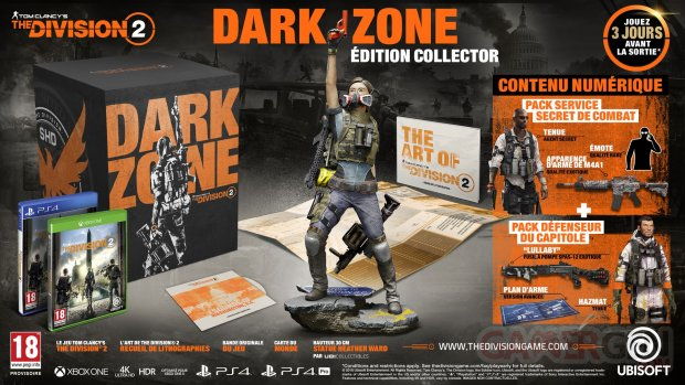 The Division 2 édition collector Dark Zone 21 08 2018