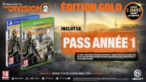 The Division 2 édition Gold Pass Année 1 PS4 Xbox One 21 08 2018