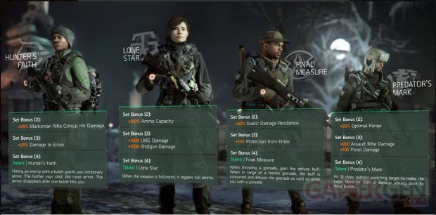 The Division mise a jour 1 2 conflict gear set