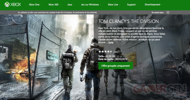 The Division Xbox Live