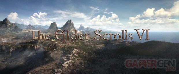 The Elder Scrolls 6 VI logo head banner teaser