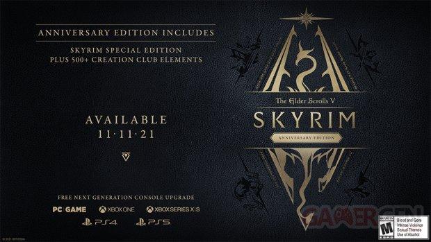 The Elder Scrolls V Anniversary Edition date key art
