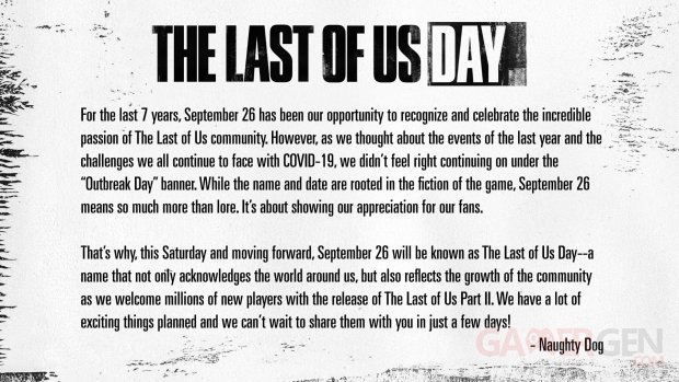 The Last of Us Day Outbreak Day
