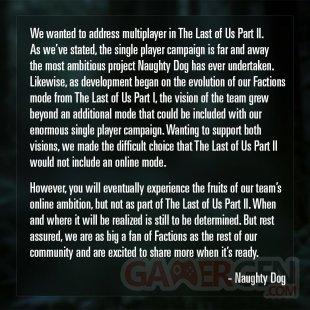 The Last of Us Part II Multijoueur Multiplayer