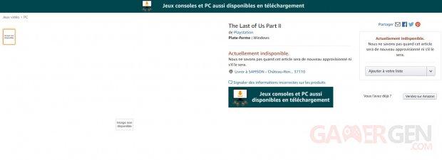 The Last of Us Part II PC Amazon 15 04 2020