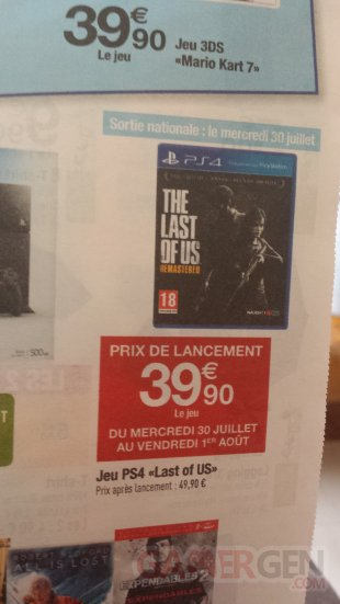 The last of us remastered carrefour bon plan
