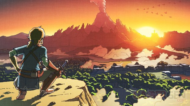 The Legend of Zelda Breath of the Wild artwork 2017