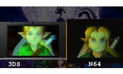 The Legend of Zelda Majora's Mask 3D comparaison