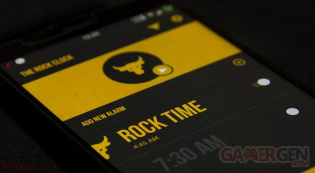 The Rock Clock app GG