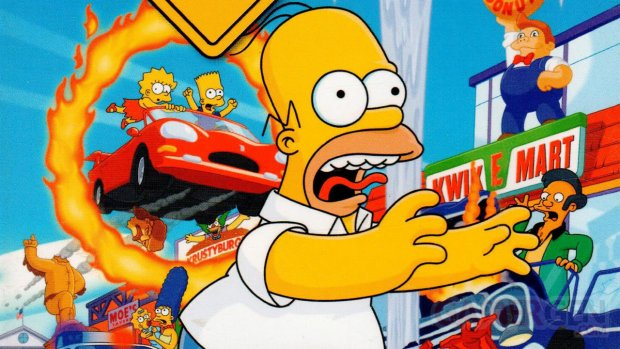 The Simpsons Hit and Run Jaquette