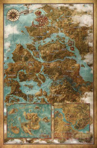The Witcher 3 carte map