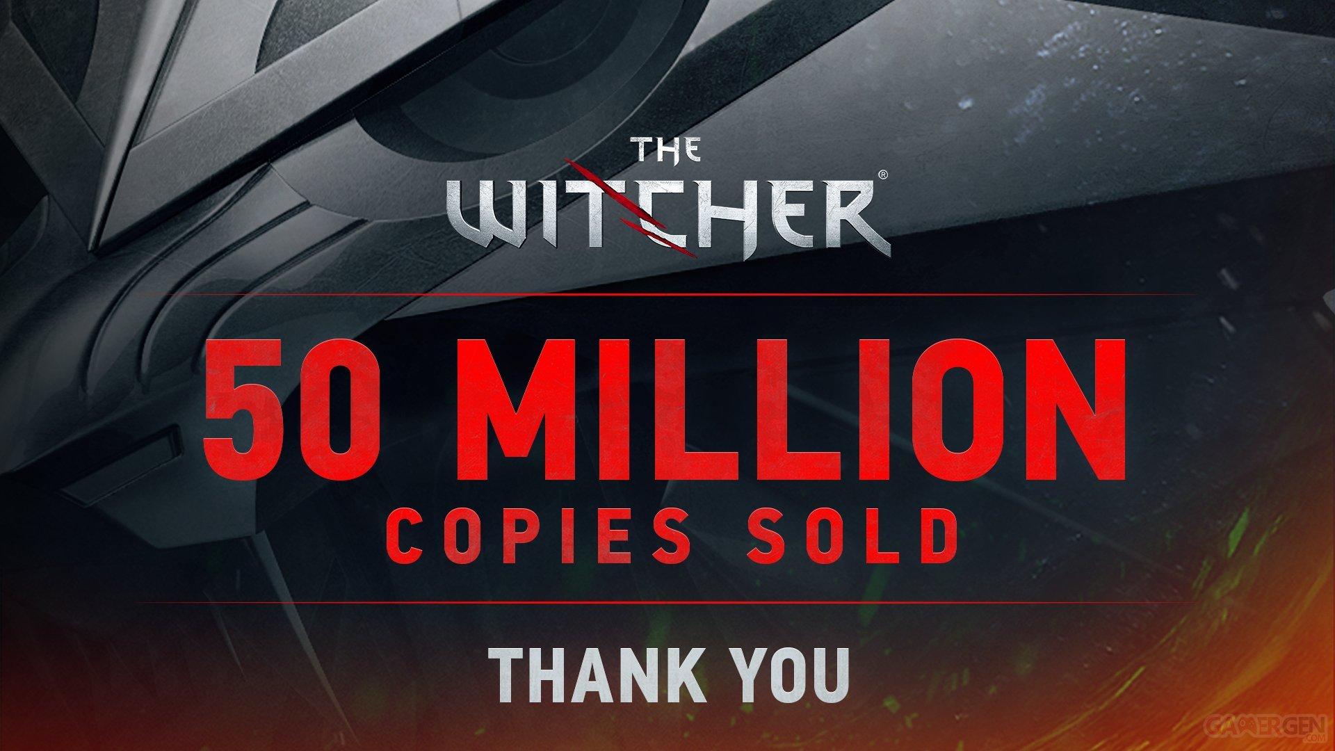 La série dépasse les 50 millions de ventes, champagne — The Witcher