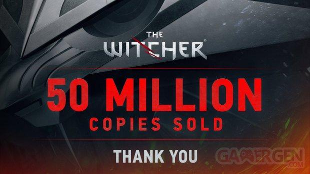The Witcher 50 millions copies soldes ventes sales série