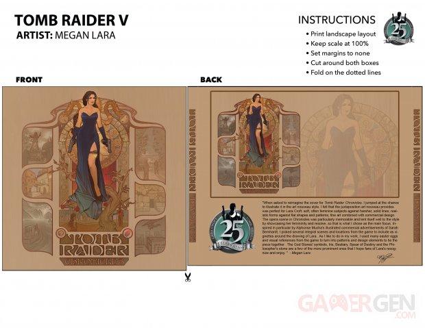 Tomb Raider Chronicles sur les Traces de Lara Croft Megan Lara key art wallpaper fond écran back cover