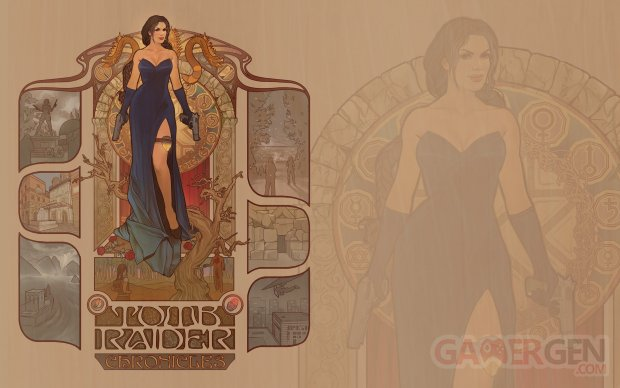 Tomb Raider Chronicles sur les Traces de Lara Croft Megan Lara key art wallpaper fond écran jaquette pochette