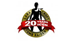 tomb raider lara croft 20 years ans logo