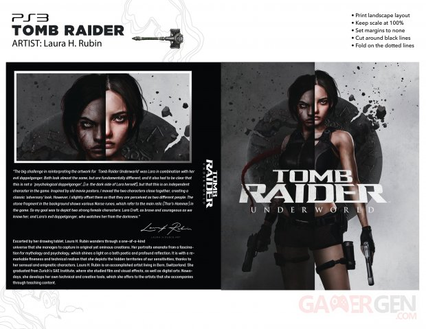 Tomb Raider Underworld key art revisited 25th Anniversary cover artwork Laura H Rubin full